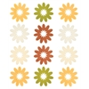 Blue Hills Studio ColorStories Flocked Daisy Stickers Yellow