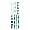 Adhesive Gems Green