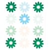 Flocked Daisy Stickers Green