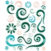 Blue Hills Studio ColorStories Epoxy Swirl Stickers Green