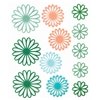 Blue Hills Studio ColorStories Gel Outline Daisy Stickers Green