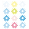 Flocked Daisy Stickers Blue