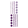 Adhesive Gems Purple