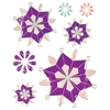 Blue Hills Studio ColorStories Epoxy Snowflower Stickers Purple