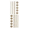 Adhesive Pearls Brown