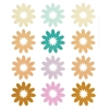 Blue Hills Studio ColorStories Flocked Daisy Stickers Brown