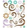 Epoxy Swirl Stickers Brown