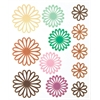 Blue Hills Studio ColorStories Gel Outline Daisy Stickers Brown