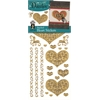 Stickers Gold Stacked Heart