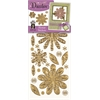 Dazzles Stickers Gold Flower