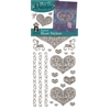 Dazzles Stickers Silver Stacked Heart