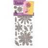 Dazzles Stickers Silver Flower