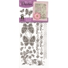 Dazzles Stickers Silver Butterfly