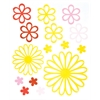 Glossy Embossed Daisy Stickers Yellow