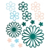 Blue Hills Studio ColorStories Glossy Embossed Daisy Stickers Green