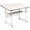 "Alvin WorkMaster Table White Base White Top 37 1/2""  x 72"""
