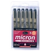 Pigma Micron Fine Line Design Pen 6-Color Pack .45mm