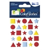 Blue Hills Studio ColorStories Puffy Mesh Stickers Red
