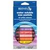 Reeves Water Soluble Wax Pastel 12-Color Set