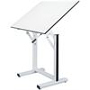"Table White Base White Top 31"" x 42"""