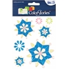 Blue Hills Studio ColorStories Epoxy Snowflower Stickers Blue