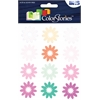 Flocked Daisy Stickers Purple