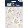Epoxy Snowflower Stickers White