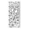 Stickers Wedding & Anniversary Silver