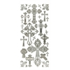 Dazzles Stickers Crosses Silver