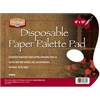 "Heritage Disposable White Paper Palette Pad 9"" x 12"""