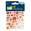 Epoxy Color Spots Stickers Red