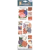 Blue Hills Studio Irene's Garden Seed Packet Fabric Stickers Red White & Blue