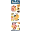 Blue Hills Studio Irene's Garden Seed Packet Fabric Stickers Yellow