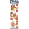 Blue Hills Studio Irene's Garden Seed Packet Fabric Stickers Red