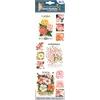 Blue Hills Studio Irene's Garden Seed Packet Fabric Stickers Pink