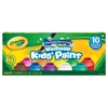 Crayola Washable Kids' Paint 10-Color Bottle Set