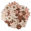 Blue Hills Studio Irene's Garden Jar O'Blooms Tans