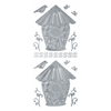 Blue Hills Studio DesignLines Outline Stickers Silver #14