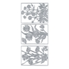 Blue Hills Studio DesignLines Outline Stickers Silver #18