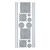 Blue Hills Studio DesignLines Outline Stickers Silver #34