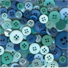 Buttons Galore & More Button Bonanza Grab Bag Ocean Blue