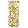 Dazzles 3-D Flowers Gold
