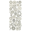 3-D Flowers Silver