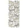 Dazzles 3-D Dragonflies Silver