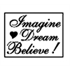 Manuscript Decorative Resin Wax Seal Imagine Dream Believe