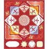 Cardstock Stickers Red
