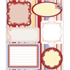 Blue Hills Studio ColorStories Embossed Cardstock Stickers Red