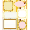 Embossed Cardstock Stickers Yellow