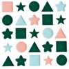 Blue Hills Studio ColorStories Puffy Mesh Stickers Green