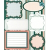 Embossed Cardstock Stickers Green